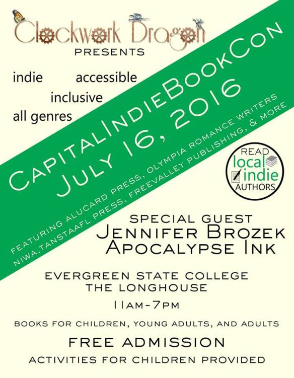 Capital Indie Book Con flyer