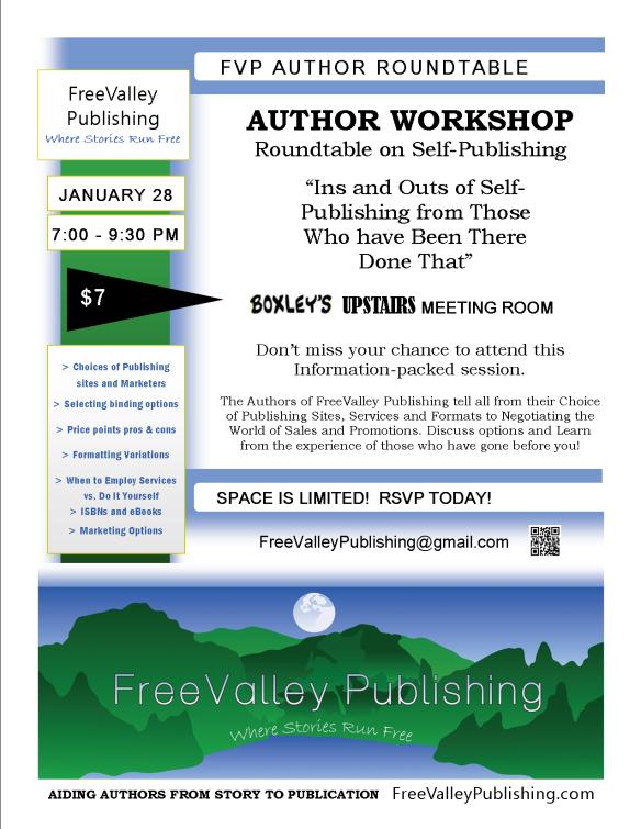 FVP Author Workshop Flyer Publishing Roundtable 1-13