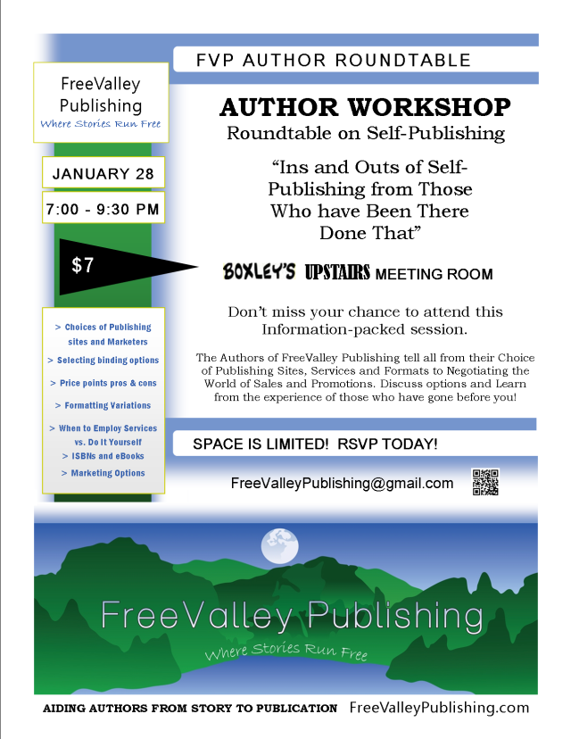 FVP Author Workshop Flyer Publishing Roundtable 1-13