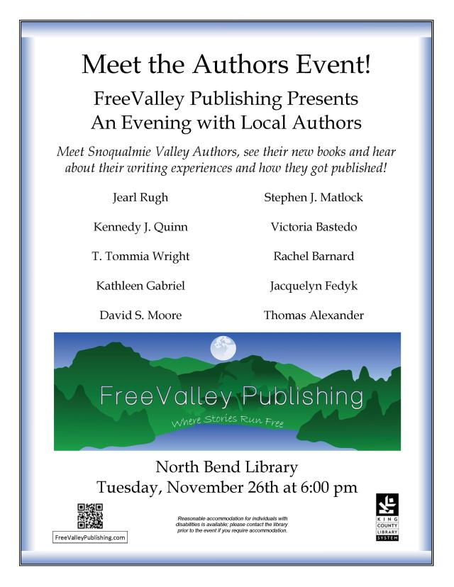 FVP Meet the Author NB Library flyer