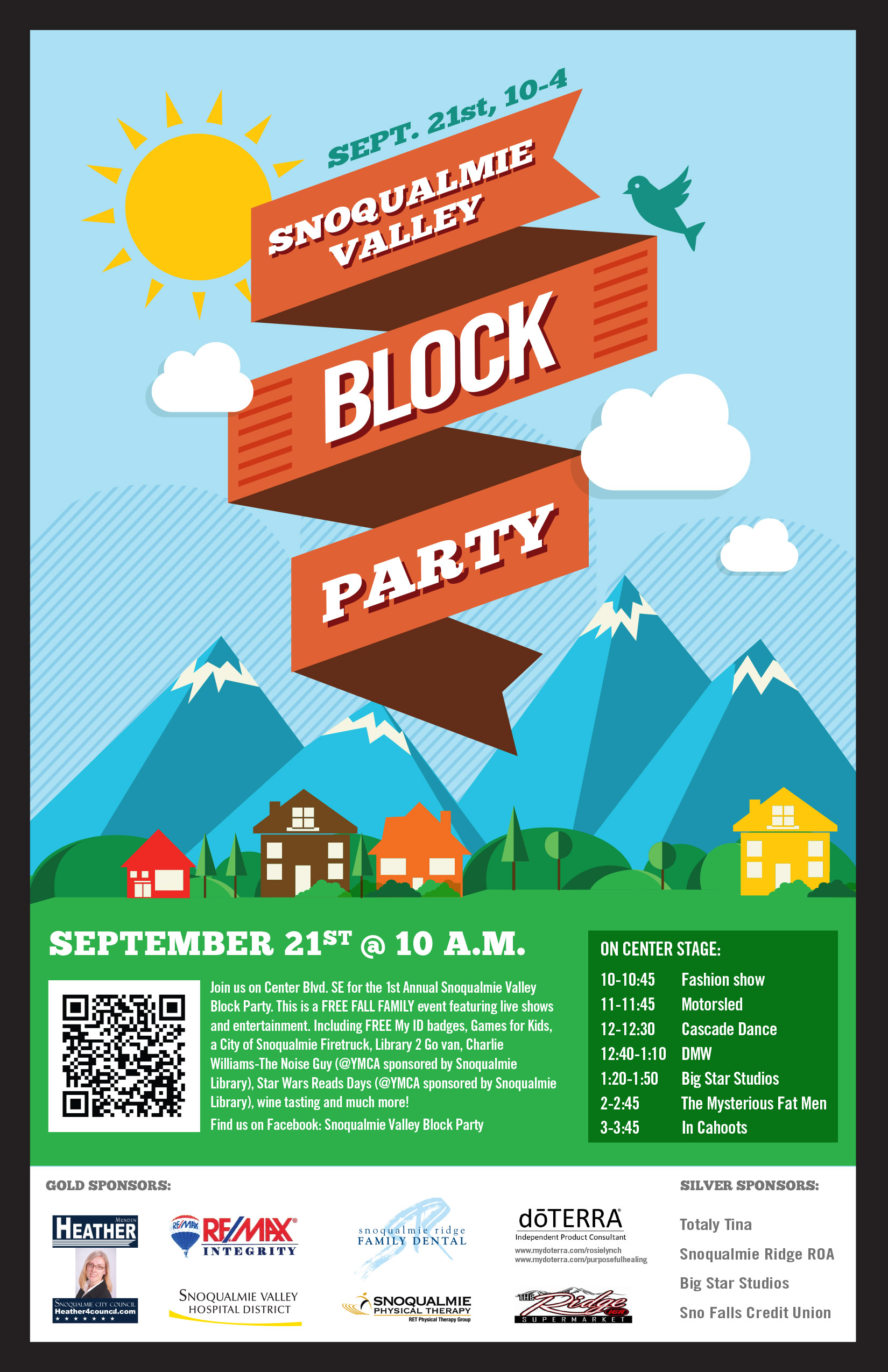 Our Next Event – Snoqualmie Valley Block Party | FreeValley Publishing