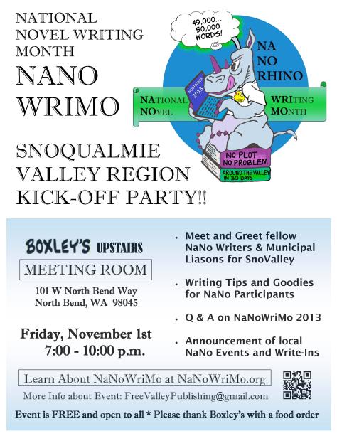 NaNo Kick-off Flyer 2013