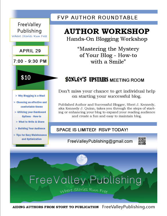 FVP Author Workshop Flyer Hands-On Blogging Workshop 4-29-14