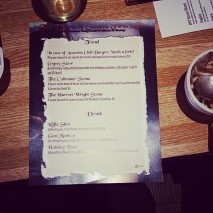 Special Menu for Book Release Party