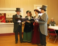 Carolers at the event