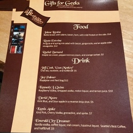 Our customized menu