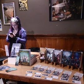Luna Lindsey with her and Jay Palmer's books