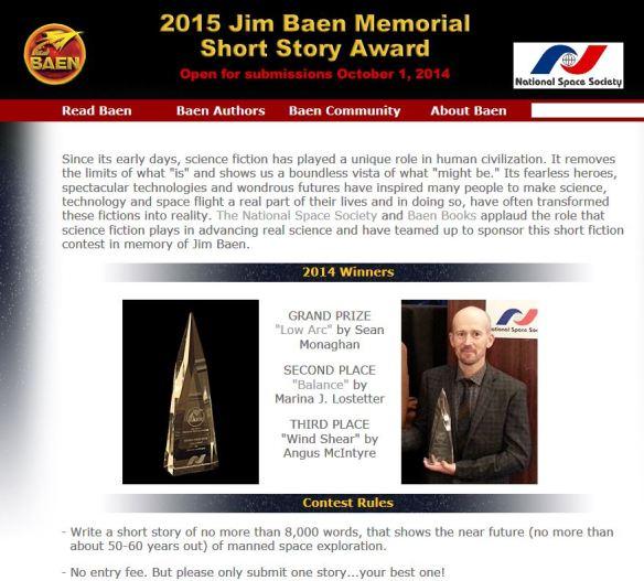 Baen Contest image