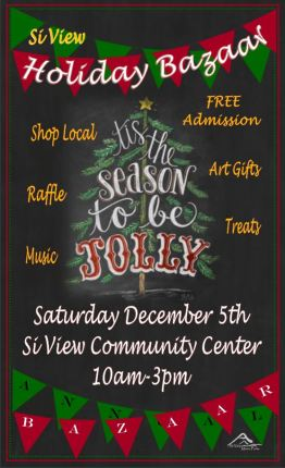 Si View Holiday Bazaar poster 2015