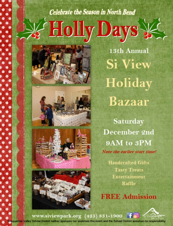 Si View Holiday Bazzar flyer 2017