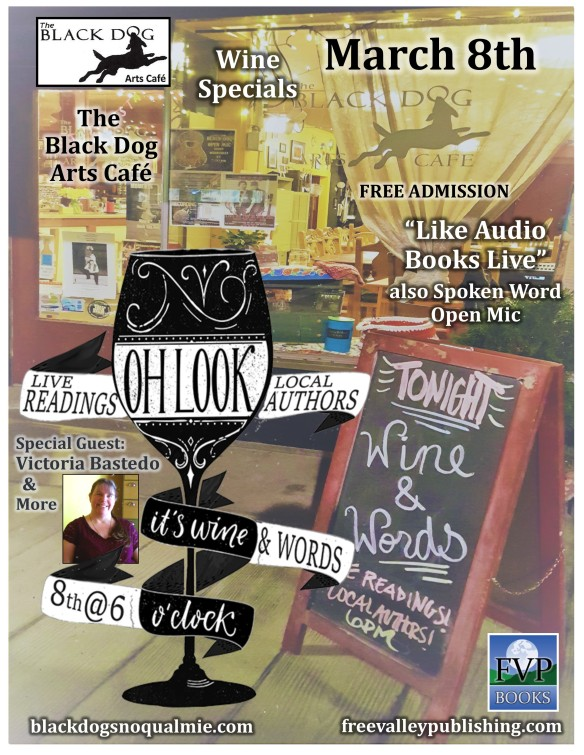 Wine and Words Flyer March 2018
