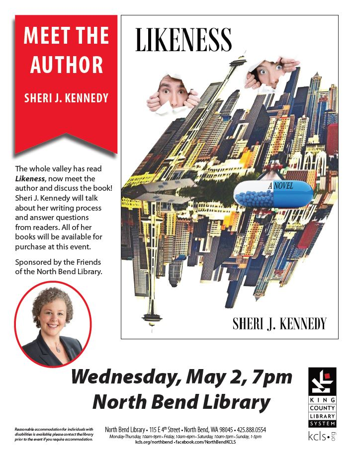 Likeness KCLS Meet The Author Flyer Valley Reads
