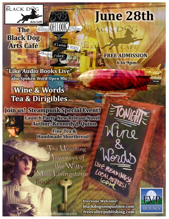 Wine and Words Tea and Dirigibles Flyer