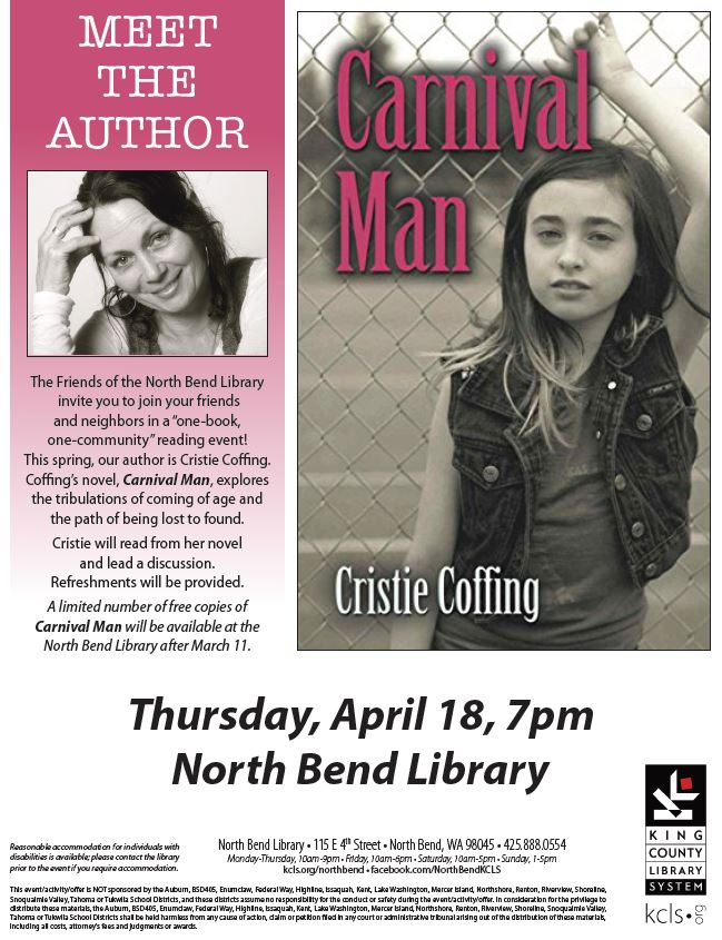 Cristie Coffing Valley Reads flyer