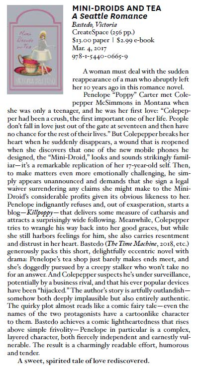 Victoria Bastedo Kirkus Review Magazine Feature p.174 July 2019