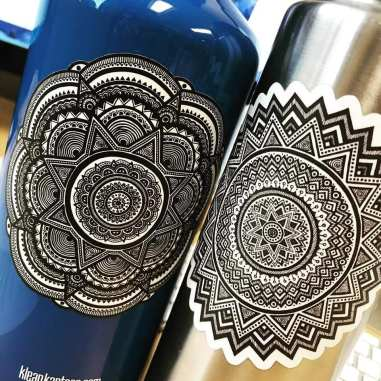 Ellen ink drawn Mandala stickers
